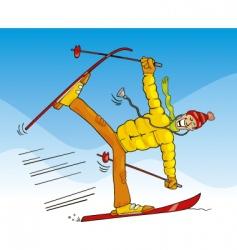 Crazy doctor on ski vector