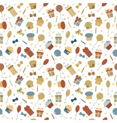 Cute Happy Birthday seamless pattern with colorful vector
