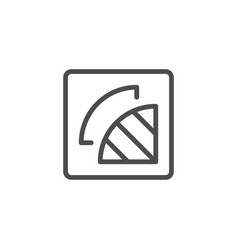 cutting out part line icon vector image