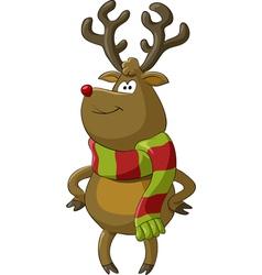 Deer scarf vector