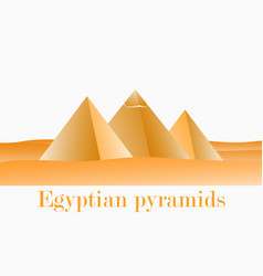 egyptian pirates in giza landscape of the desert vector image