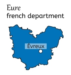 Eure french department map vector