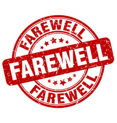 Farewell red grunge stamp vector
