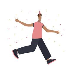 Festive party celebration jump people vector