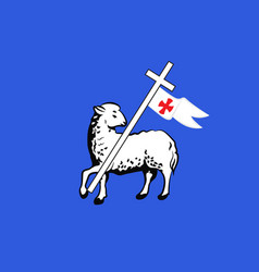 Flag of grasse in alpes-maritimes is a department vector