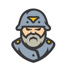 German soldier cartoon vector