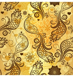 Gold repeating pattern vector