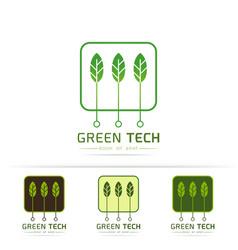 green technology logo vector image