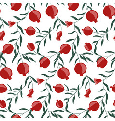 hand drawn pomegranate seamless pattern vector image
