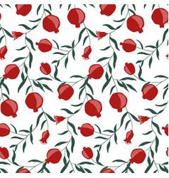 Hand drawn pomegranate seamless pattern vector