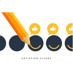happy client customer business icon feedback vector image