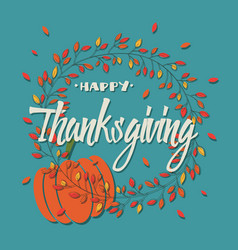 Happy thanksgiving day card with decorative vector