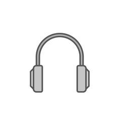 headphones simple gray icon headphone vector image