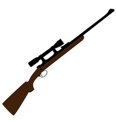 Hunting rifle with sight vector image