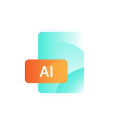 icon format ai gradient flat style bright vector image