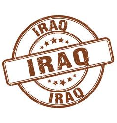 Iraq brown grunge round vintage rubber stamp vector