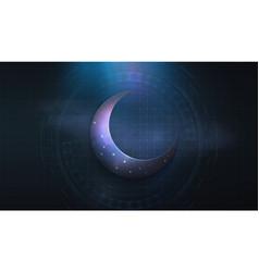 lantern fan us muslim holiday holy vector image