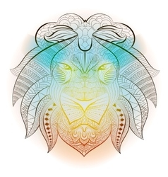 Lion tribal ethnic animal vector image