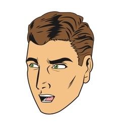 Man pop art style vector