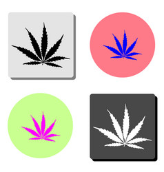 marijuana flat icon vector image