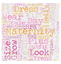 Maternity clothes trends text background wordcloud vector