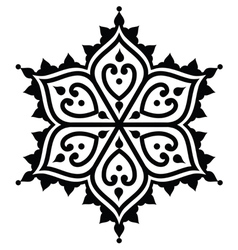 Mehndi indian henna tattoo design - star shape vector