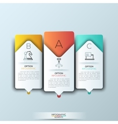 Modern infographics template with futuristic paper vector