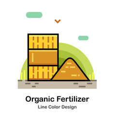 Organic fertilizer line color icon vector