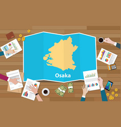 Osaka kansai japan city region economy growth vector