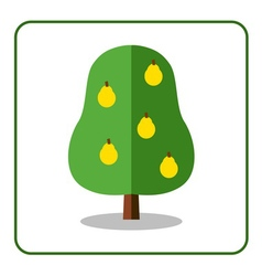 Pear tree icon vector image