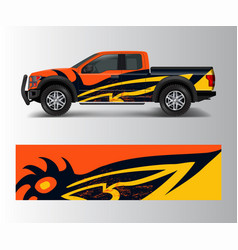 racing graphic background for truck pickup and vector image