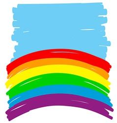 Rainbow backgorund vector