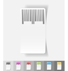 Realistic design element barcode vector