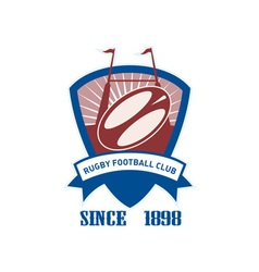 Rugby football club vector