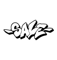 Sale font in graffiti style vector