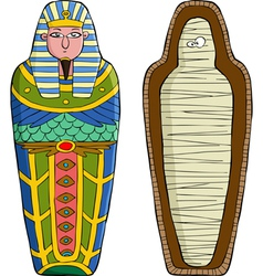 sarcophagus vector image