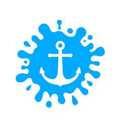 sea water vector image