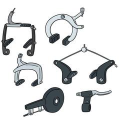set of bicycle brake type vector image