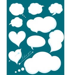 Set of Romantic Love or Cloud Communications vector image