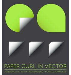 Set of Stickers with Paper Curl vector