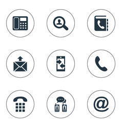 Set simple connect icons vector