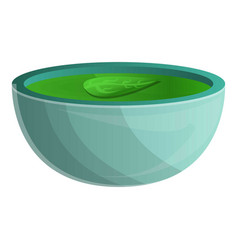 Spinach soup icon cartoon style vector