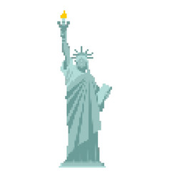 statue of liberty pixel art 8 bit landmark vector image
