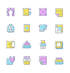 textile products rgb color icons set vector image