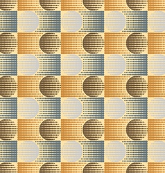 The pattern of circles and rectangles vector image