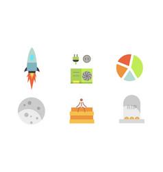 Token ico and blockchain vector