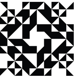 triangle geometric shapes pattern black and white vector image