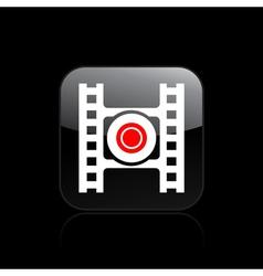 Video recording icon vector