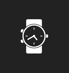 Watch icon clock flat vector