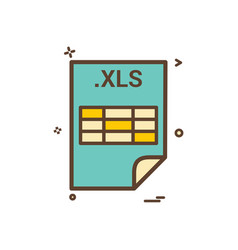 Xls application download file files format icon vector